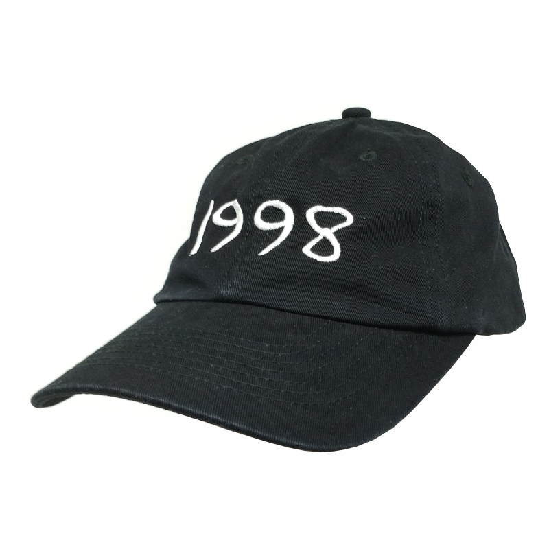 custom black embroidered colorful low profile dad cap <strong>hats</strong>