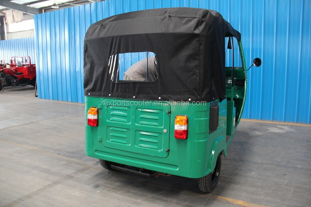 Gasoline auto taxi passenger tricycle three wheel bajaj for Afirca market