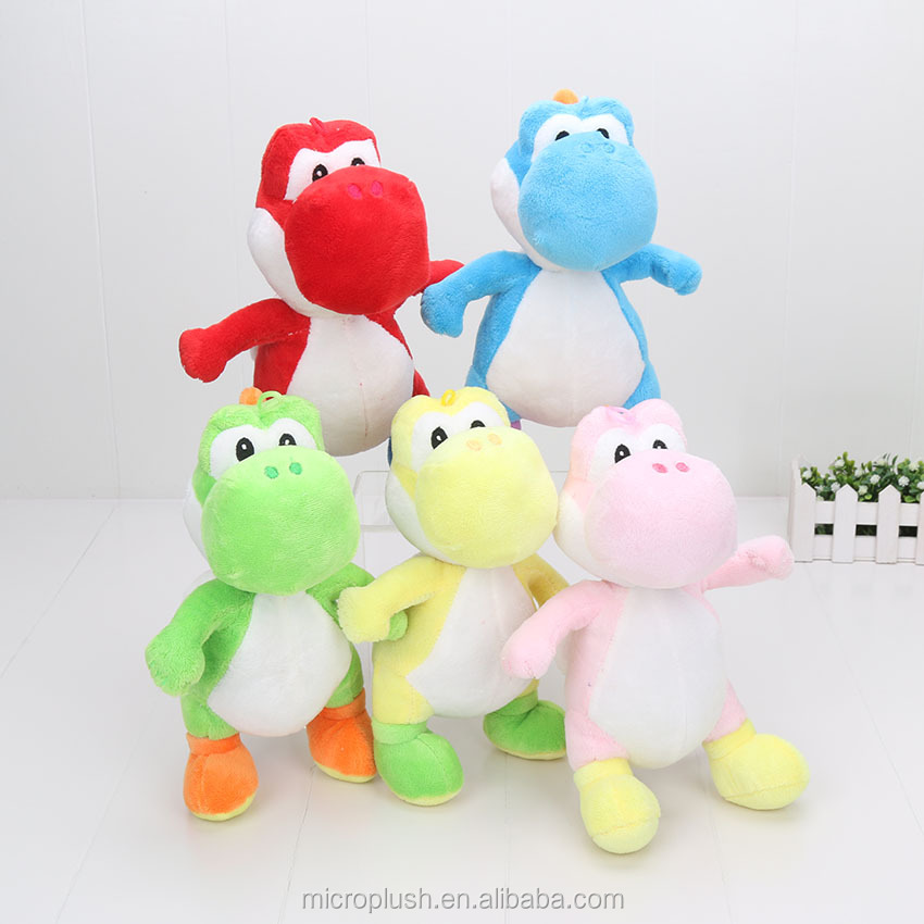 "7"" 18cm Super Mario Bros Yoshi <strong>Plush</strong> with huk Yoshi Toy Doll 5 Color Selectable <strong>plush</strong> stuffed toy"