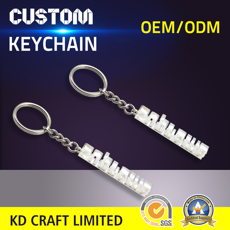 Unique design custom made metal 3d tooth shaped nickel plated dental souvenir keychains