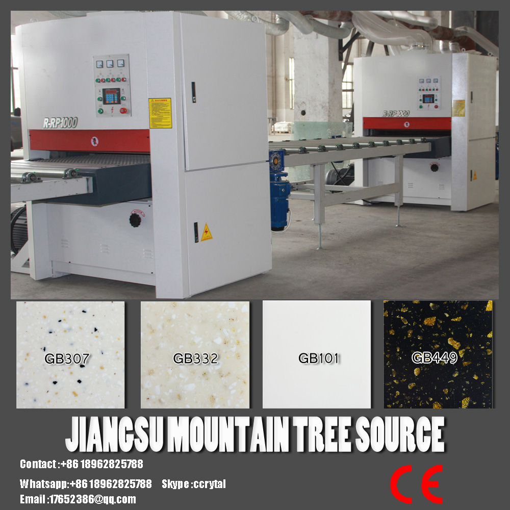 xiaonei show sanding machinery polishing machinery solid surface production line stone making machine