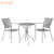 Contemporary European round steel mesh cast iron metal bistro table
