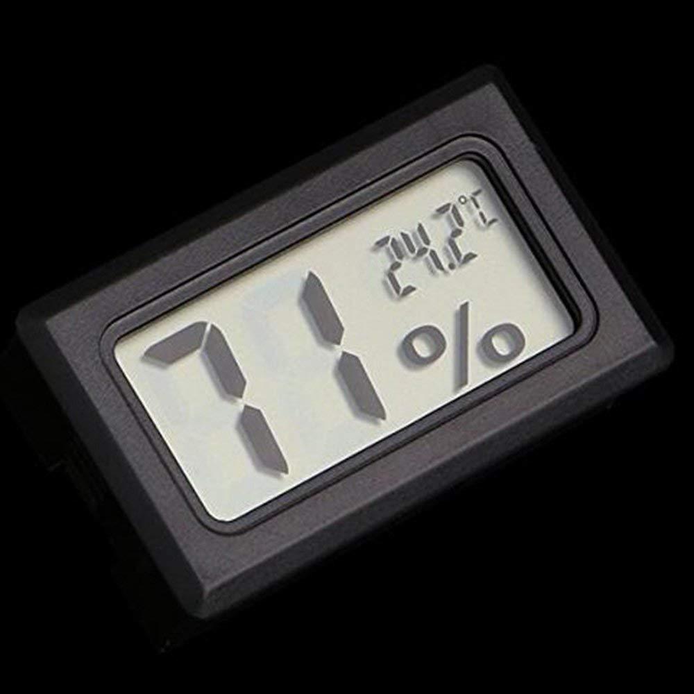 SPHTOEO Mini Wireless Digital LCD Thermometer Temperature Indoor Humidity Meter Gauge Hygrometer (Black)