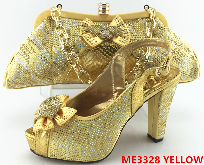 ME3326 for WINE shoes party female bag and Fashion set african wedding UFnqYvz