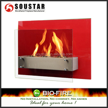2018 made in china cheap wall mounted bio ethanol fireplace glass for sale