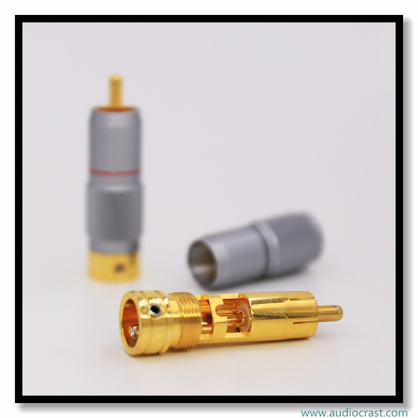 High Performance Pure Copper Gold Plated Audio RCA Plug Audio RCA Connectors