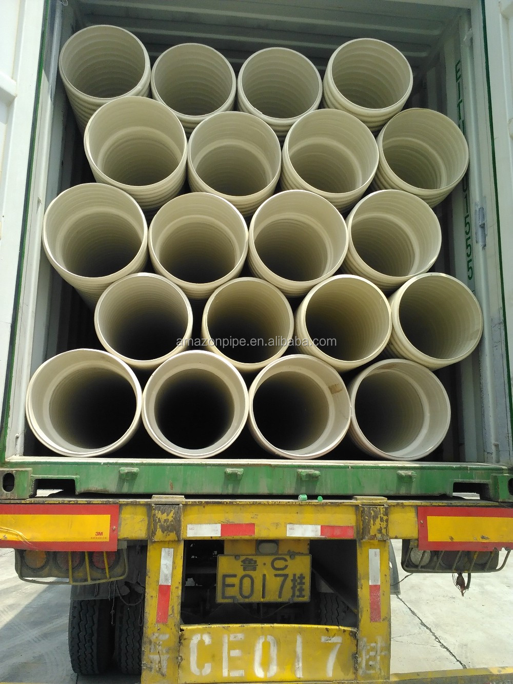 DN225 SN8 PVC corrugated plastic pipe price
