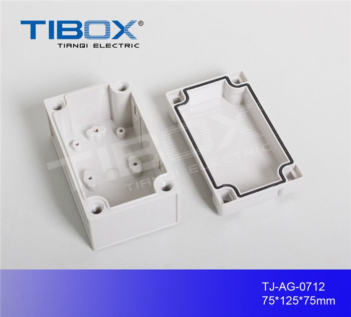 abs electronic plastic box enclosure device housing with knock out and rubber for electrical industry, TIBOX