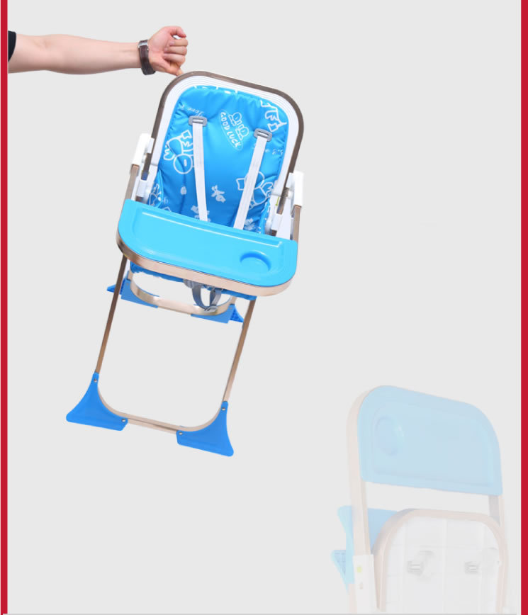 Compact And Portable Folding Baby High Chair Light Highchair Fold Baby High  Chair