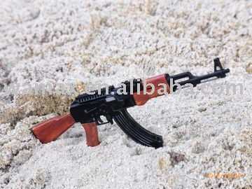 plastic game imitation toy gun model AK-47(accept OEM)