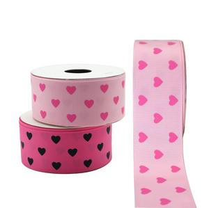 Wholesale Custom Valentine's Day Grosgrain Heart Ribbon