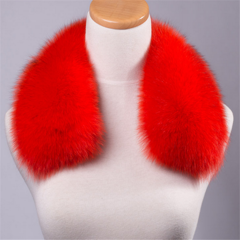 100% genuine fox fur trim detachable fox fur collar with low price