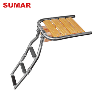 OEM ODM stainless steel ladder prices stable structure wooden stair ladder movable step platform