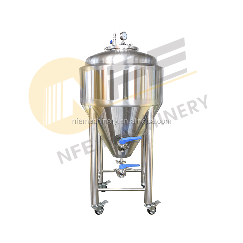 30 gallon 50 gallon unitank brew bucket cone bottom stainless steel conical beer fermenter tank for Brewery
