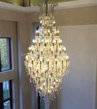 Long Shape Turkish Big Crystal Stairs Chandelier Light For Banquet - Long chandelier crystals