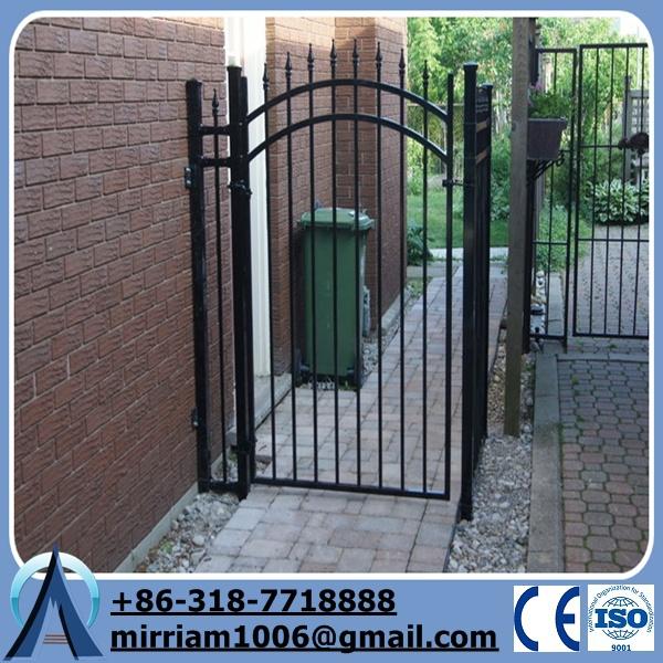 Simple wrought iron gate decorative outdoor pedestrian
