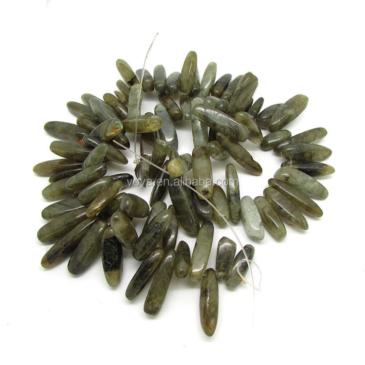 SB6442-04 Wholesale rarity gemstone dagger tooth chip beads,natural stone long chip labradorite beads