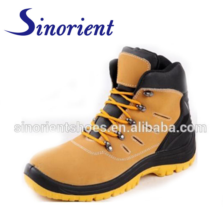 nubuck leather safety boots steel toe safety men shoes RS7812