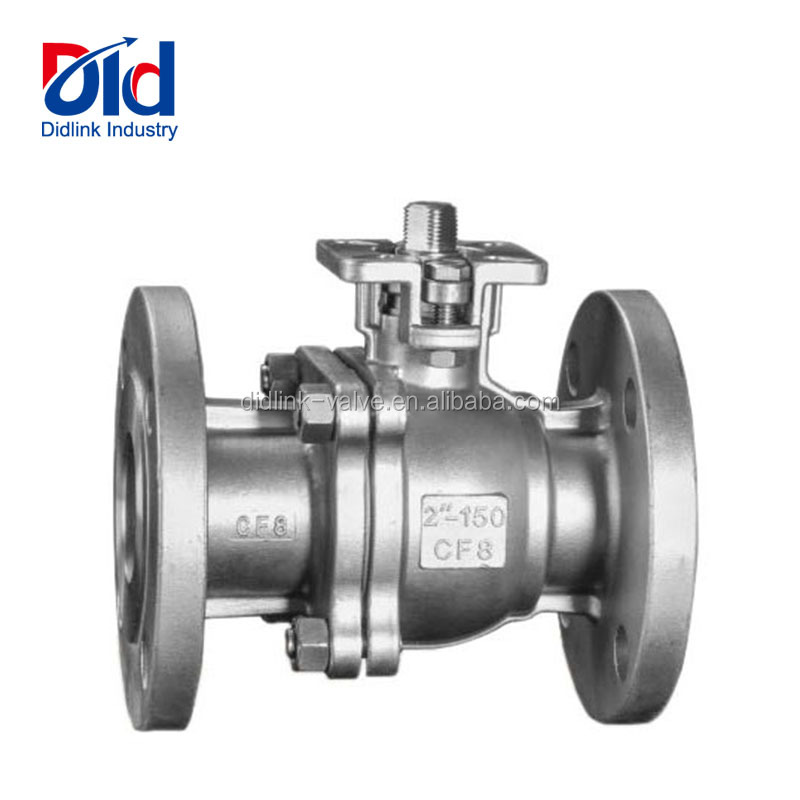 "Stainless Steel 2"" 150Lb CF8 2PC ANSI ASME Flange Manual Or Pneumatic Operated Ball Valves"
