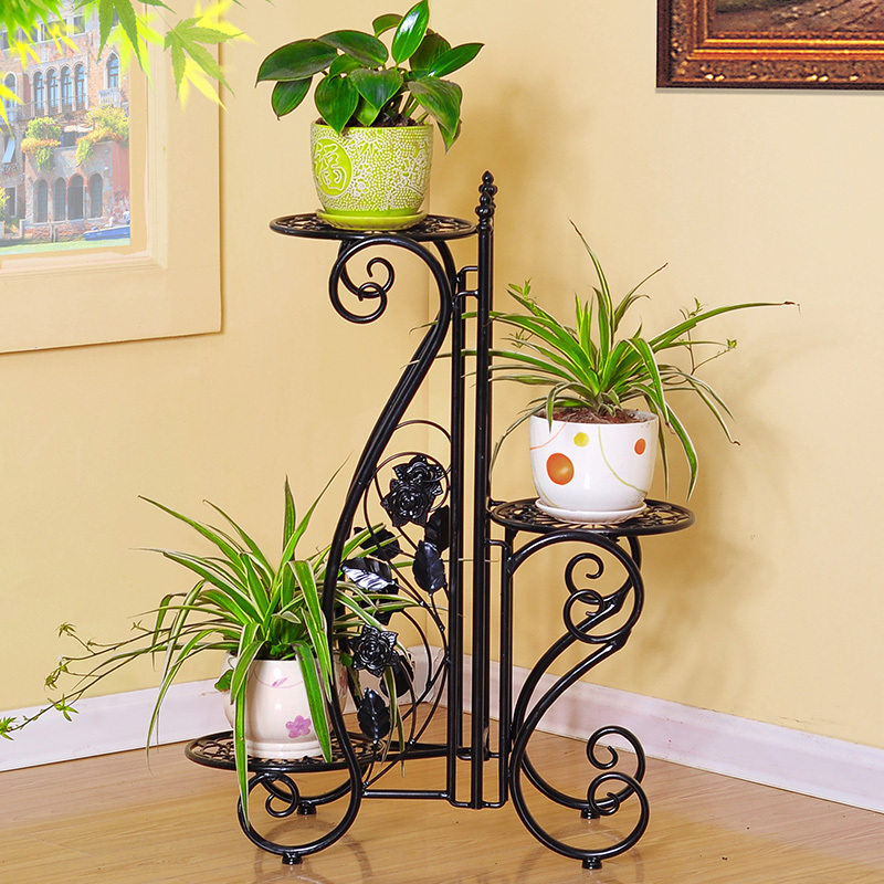 Metal Plant Holder Wrought Iron Stands Flower For Home Garden Xy1313
