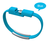 Bracelet Wristband Micro USB V2.0 Charging cable 6 Colors Short Male To Female Cable Bracelet Data Line For Cellphones