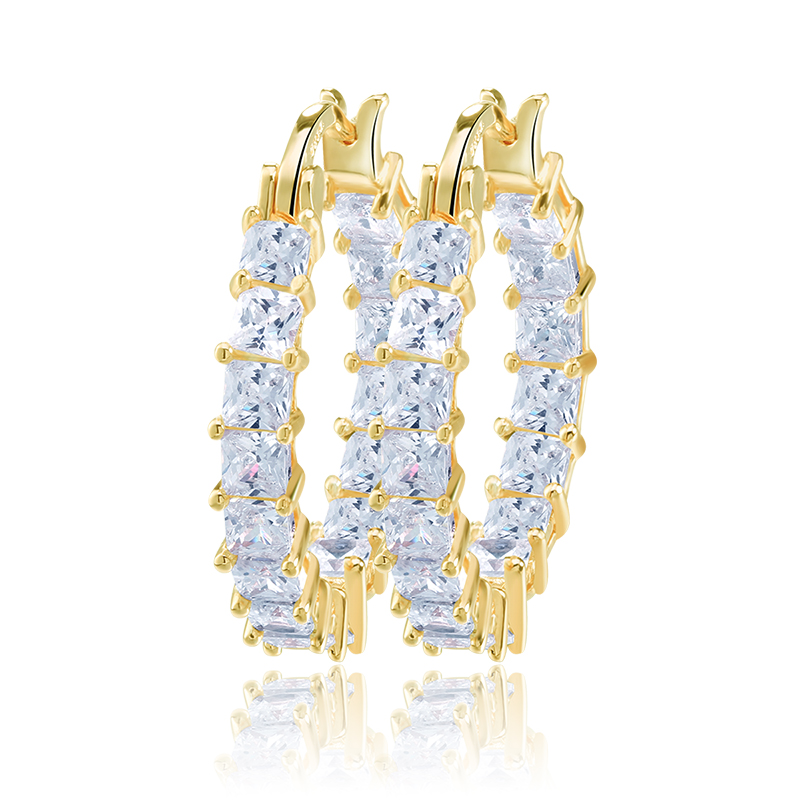 RINNTIN OE144 Fashion <strong>Earrings</strong> Large Design Tops Jewelry <strong>Gold</strong> Plated Hoop <strong>Earrings</strong>