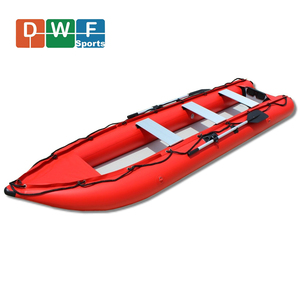 4.2m Cheap price inflatable double or triple seats inflatable folding kayak with drop stitch floor
