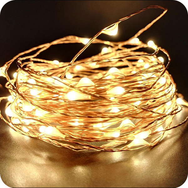 Fairy Lighted Copper Christmas String Rice Lights - Buy Christmas ...