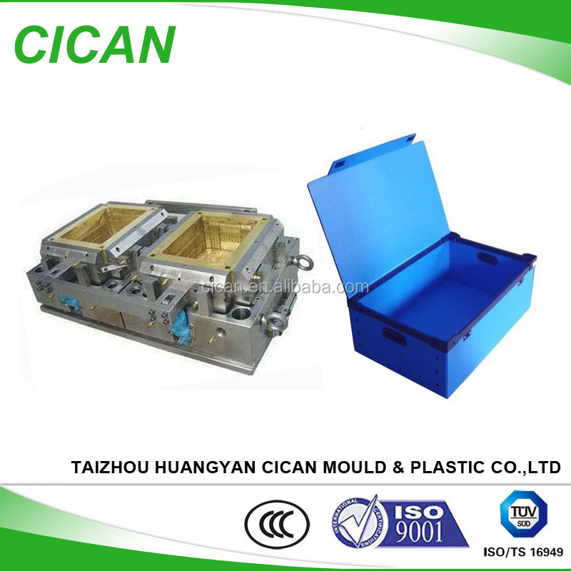 Custom P20 Plastic Injection design storage Turnover Box <strong>Mold</strong>