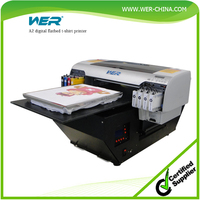 Top selling WER-D4880T a2 textile printer any color textiles fabric printing machine tshirt printer,dtg printer