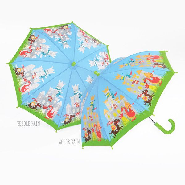 2017NEW invention anti-uv rain cartoon kids children parasol straight colour changing umbrella