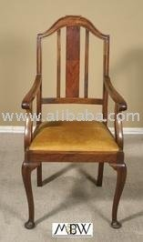 Antique Dining Arm Chair: Mahogany