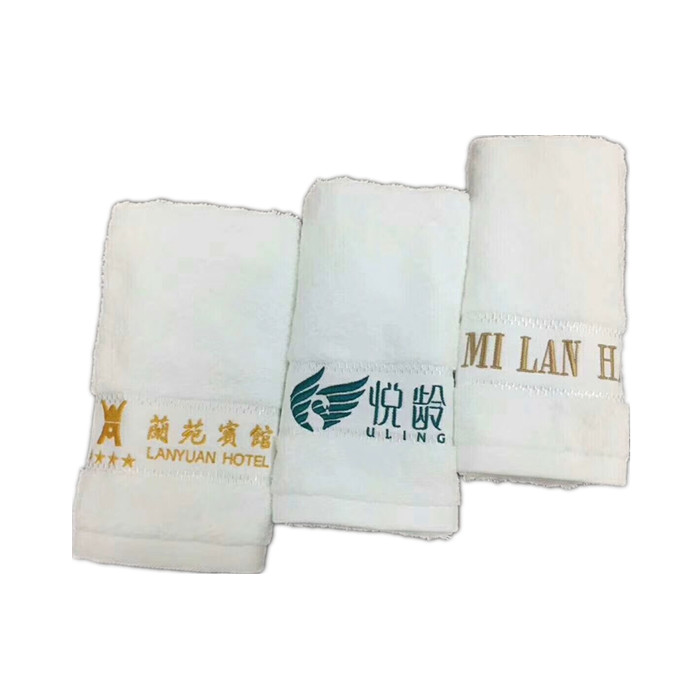 100% Cotton Custom Face Hand Bath Towel with Embroidery Logo