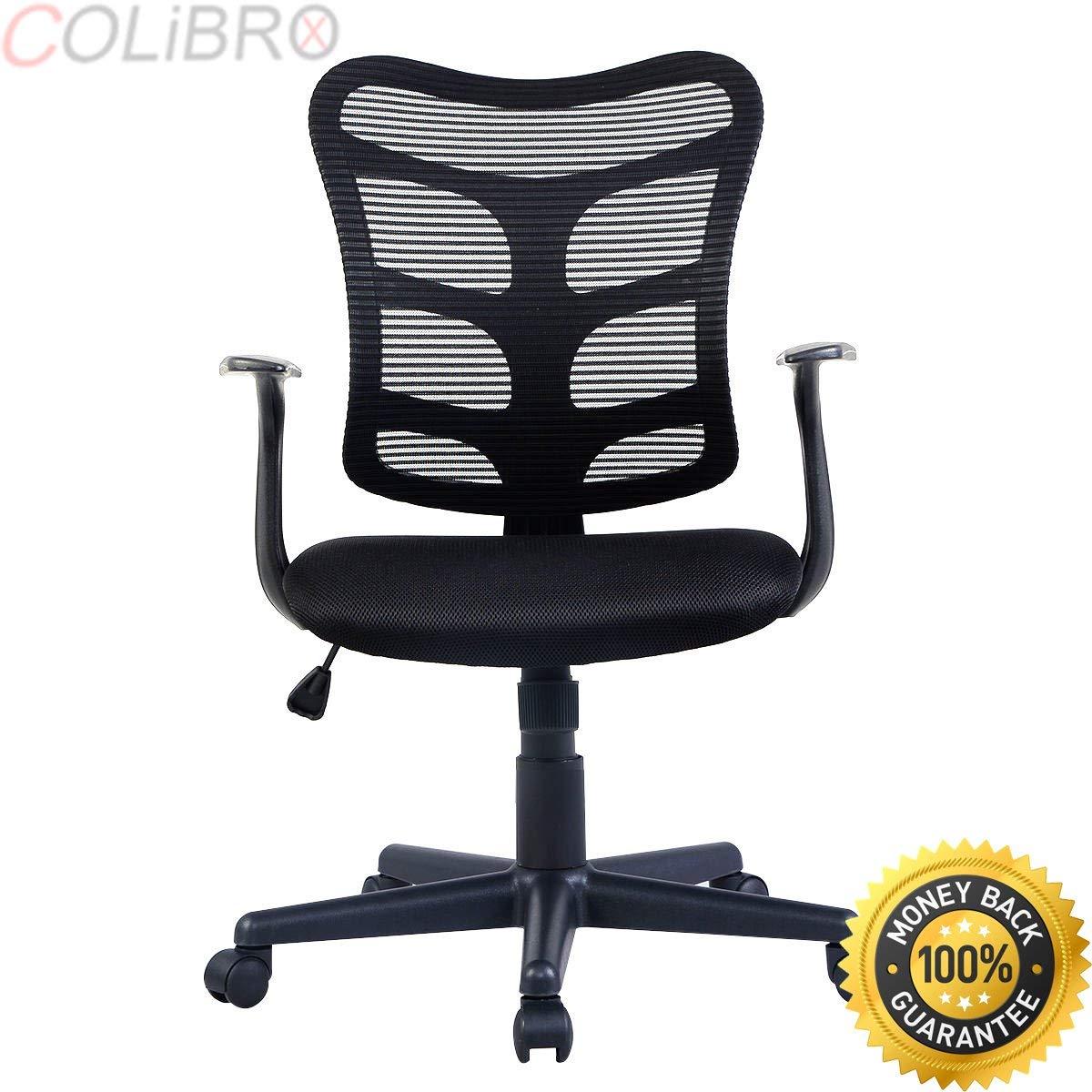 COLIBROX--Modern Ergonomic Mid-Back Executive Computer Desk Task Office Chair Mesh Back. modern ergonomic mesh mid back executive computer desk task office chair. ergonomic chair amazon.