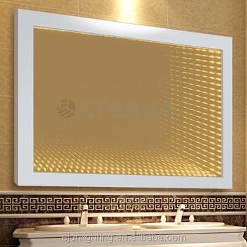 Moden Design CE IP44 3D Bathroom Fancy LED Lighted Infinity Mirror
