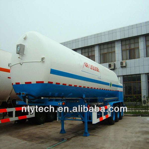 5-53m3 capacity LNG, LOX, LIN, LAR, LC2H4, LH2, LCO2 Cryogenic liquid lorry tanker with working pressure 0.3-25Mpa