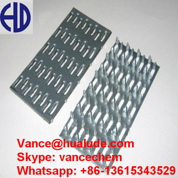 Galvanized steel gang stamping plate nails