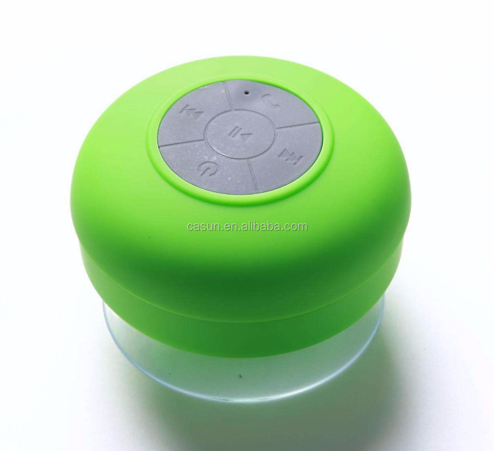 Waterproof Speaker Mini Wireless sucker Speaker/Micro USB Slot Mushroom Silicone Suction Cup