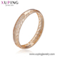 51858 Xuping wholesale jewelry crystal metal small bangle with 18k gold plated for baby