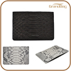 luxury python leather business card case simple design card holder