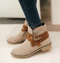 Dámské podzimní boty s ozdobným páskem z Aliexpress