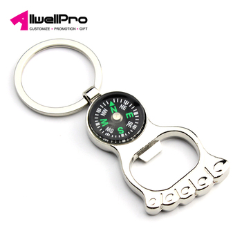 Personalized metal keychain New creative ankle compass bottle opener keychain