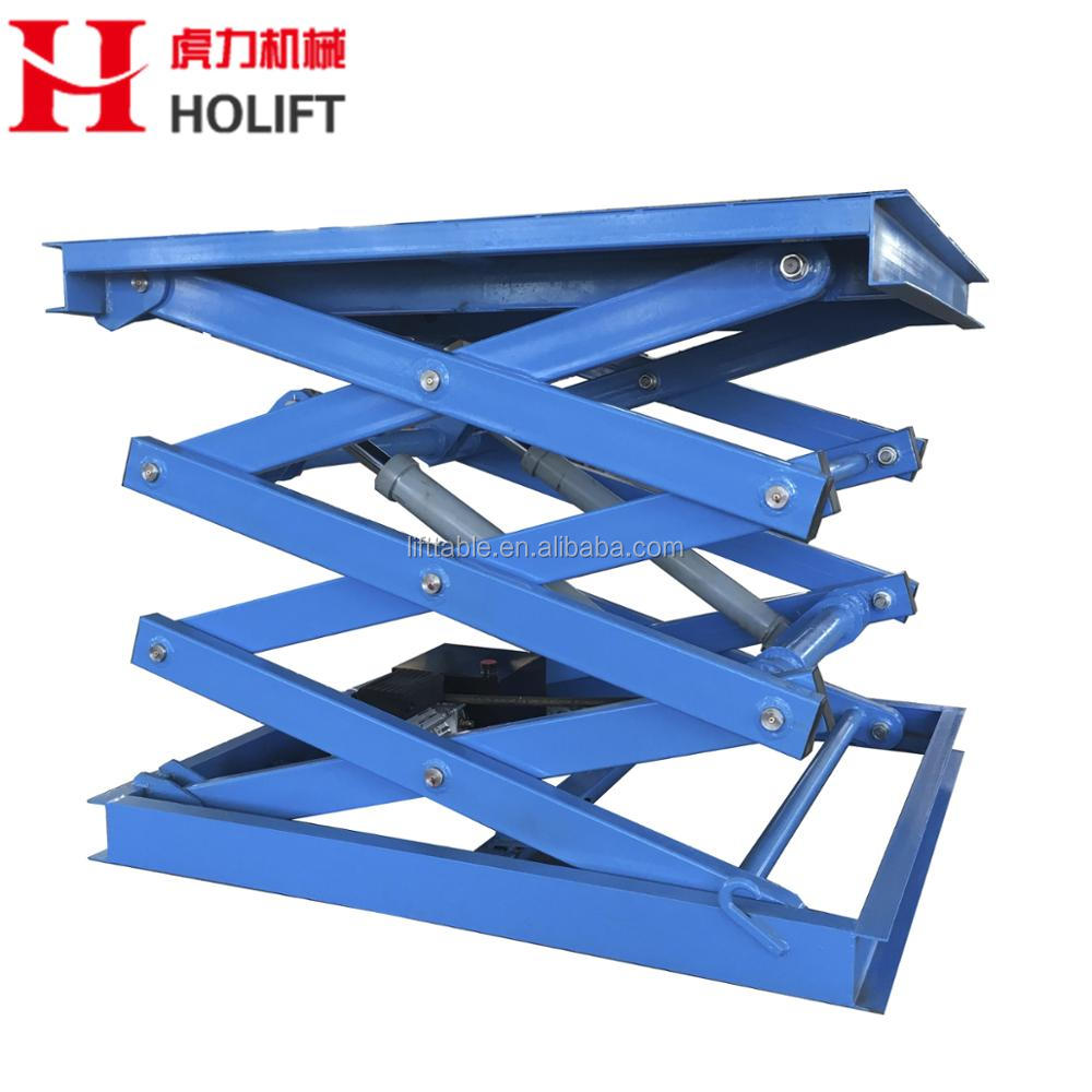 Professional 1-10ton capacity fixed hydraulic scissor car lift/stationary scissor lift platform used for sale