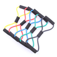 Personal fittness and exercise equipment 8 shaped resistance bands/ropes/yoga bands