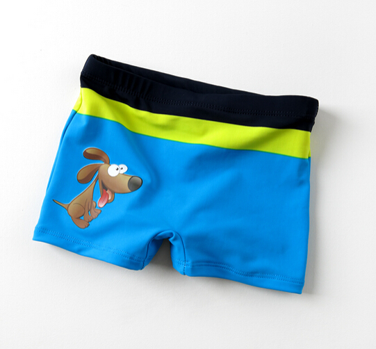 HaoLian Boys Swim Trunks Cartoon Print Cute Swim Shorts for Kids