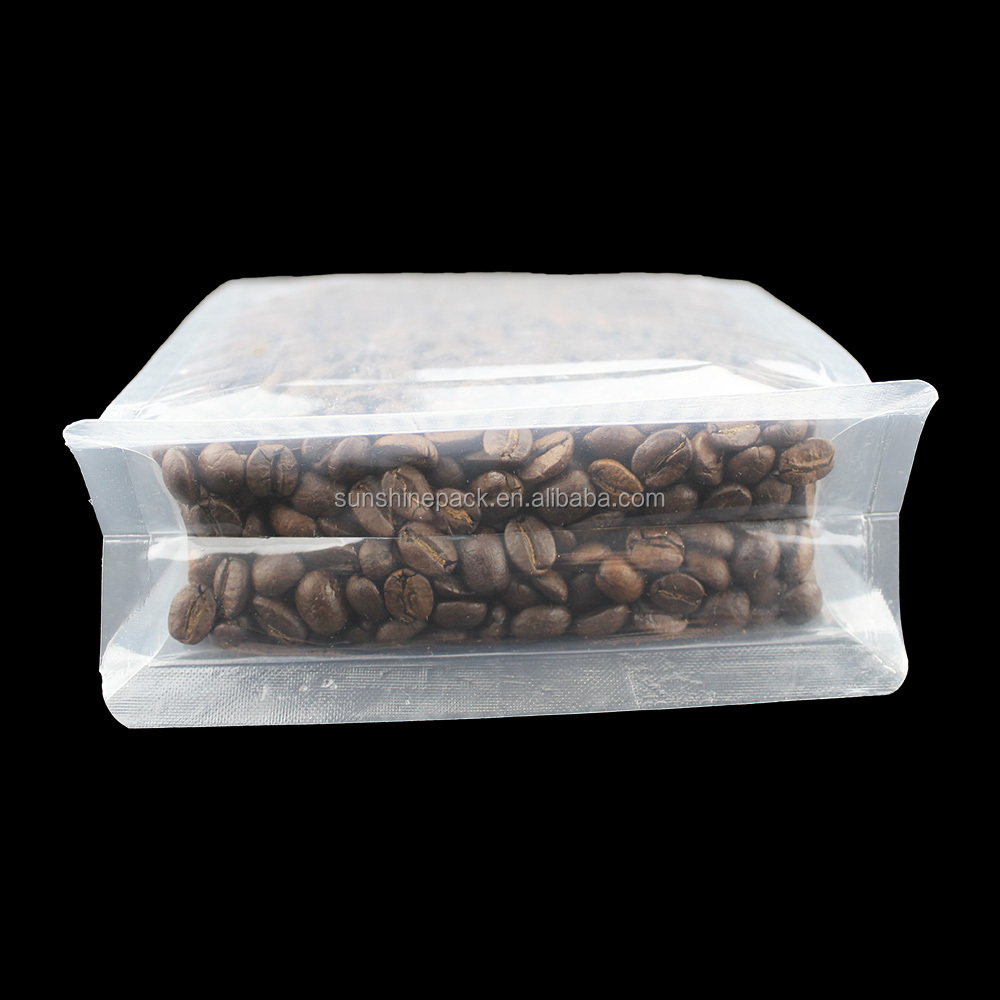 Printed aluminum foil coffee bag/Back Center Sealing Bag For food tin tie coffee bag