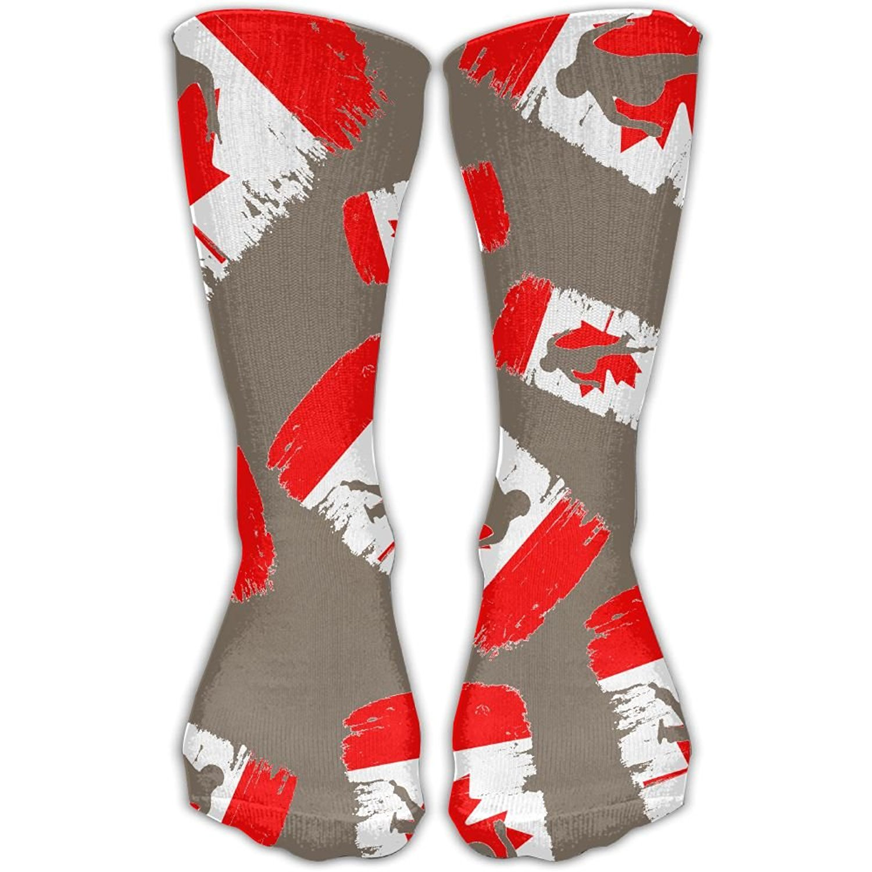 Denmark Flag Printed Crew Socks Warm Over Boots Stocking Stylish Warm Sports Socks