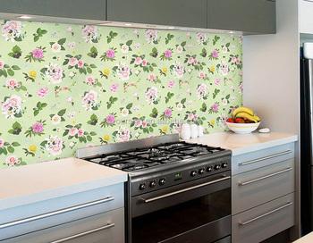 Custom Digital Printed Kitchen Decoration Self Adhesive Wallpaper