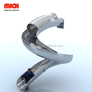 Mich Professional Customization New Style Of Children'S Indoor Or Outdoor Spiral Playground,Stainless Steel Tube Slide