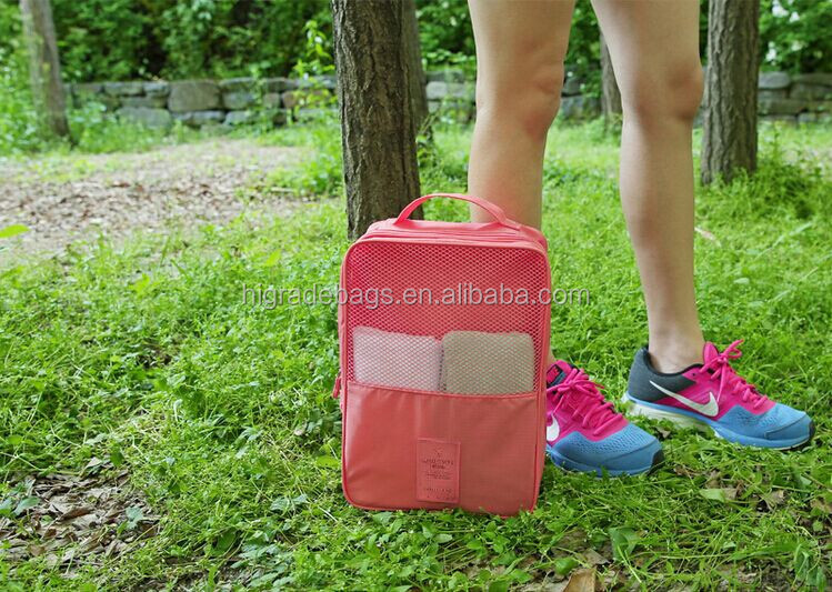 travel shoe bag, storage bag with mesh fabric